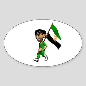 Afghanistan Boy Oval Sticker