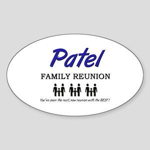 Patel Family Reunion Oval Sticker