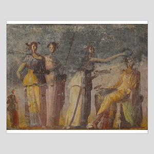 Pompeii Fresco Small Poster