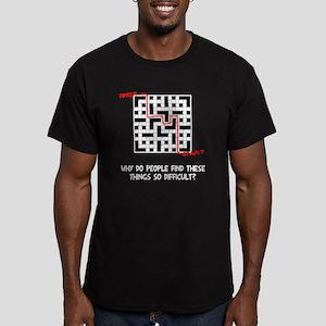Crossword Difficult Men's Fitted T-Shirt (dark)
