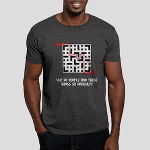 Crossword Difficult Dark T-Shirt