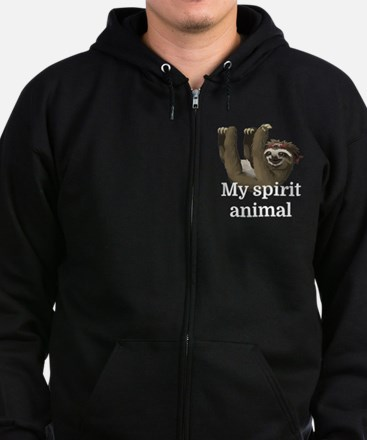 My Spirit Animal Zip Hoodie (dark)