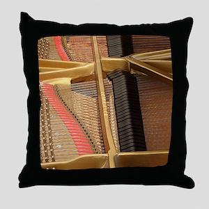 Inside a Piano Throw Pillow