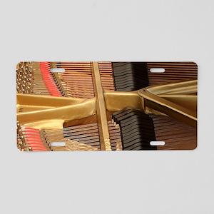 Inside a Piano Aluminum License Plate