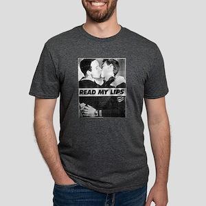 Read My Lips Vintage Photo Boys Kissing T-Shirt