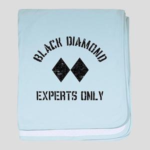 Black diamond baby blanket