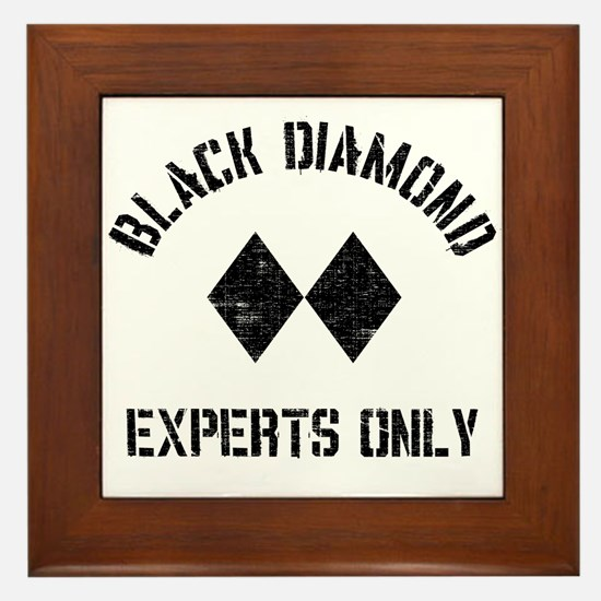 Black diamond Framed Tile