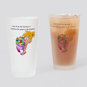 Laundry Humor Drinking Glass