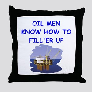 oil men Throw Pillow