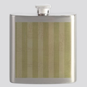 Faded Green Stripes Flask