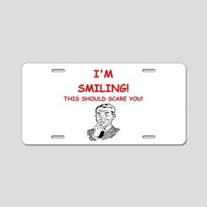 smiling Aluminum License Plate