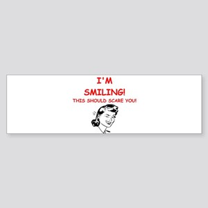 smiling Bumper Sticker