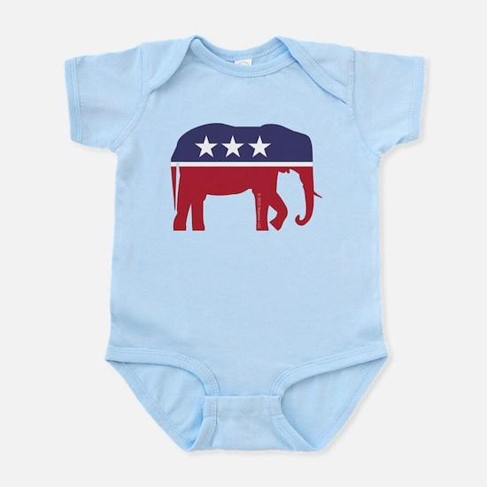 Republican Elephant Infant Bodysuit