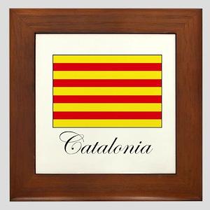 Catalonia - Flag Framed Tile