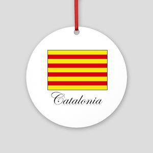 Catalonia - Flag Ornament (Round)