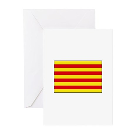 Catalonia Flag Greeting Cards (Pk of 10)