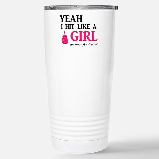 Hit Like A Girl Stainless Steel Travel Mug