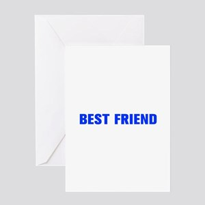 Best friend-Akz blue Greeting Cards