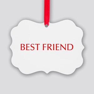 Best friend-Opt red Ornament