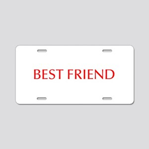 Best friend-Opt red Aluminum License Plate