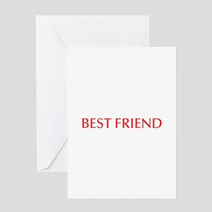 Best friend-Opt red Greeting Cards
