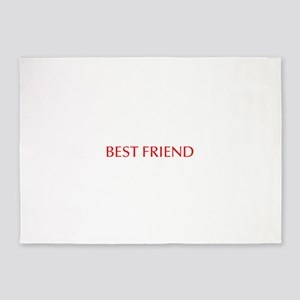 Best friend-Opt red 5'x7'Area Rug