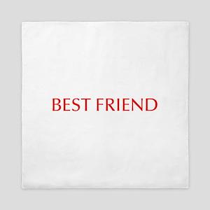 Best friend-Opt red Queen Duvet