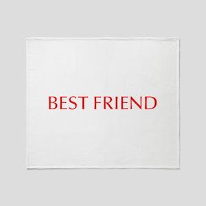 Best friend-Opt red Throw Blanket