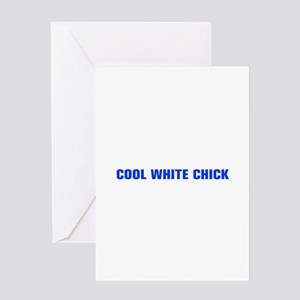 Cool white chick-Akz blue Greeting Cards