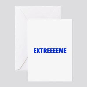 Extreeeeme-Akz blue Greeting Cards