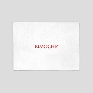 Kimochi-Opt red 5'x7'Area Rug