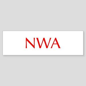 NWA-Opt red Bumper Sticker