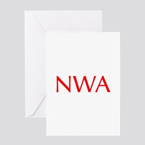 NWA-Opt red Greeting Cards