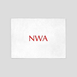 NWA-Opt red 5'x7'Area Rug