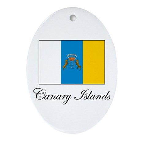 Canary Islands - Flag Oval Ornament