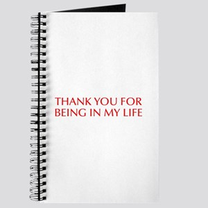 Thank you for being in my life-Opt red Journal