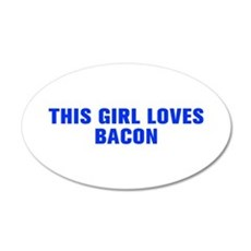 This girl loves bacon-Akz blue Wall Decal