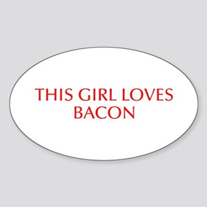 This girl loves bacon-Opt red Sticker