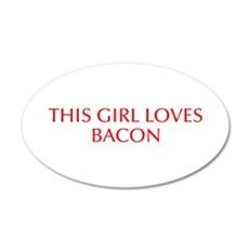 This girl loves bacon-Opt red Wall Decal