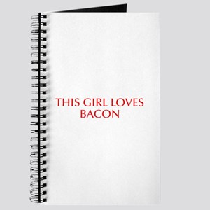 This girl loves bacon-Opt red Journal