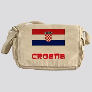 Croatia Flag Retro Red Design Messenger Bag
