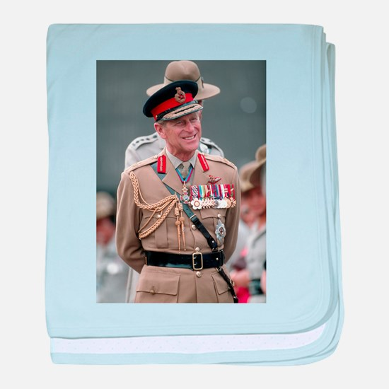 HRH Prince Philip Great Britons! baby blanket