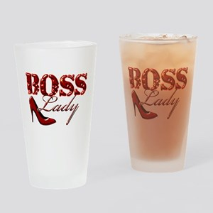 Boss Lady Bling Drinking Glass