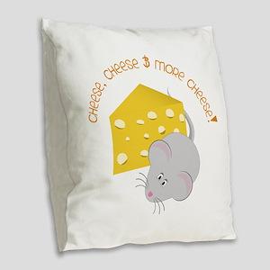 Cheese Burlap Throw Pillow