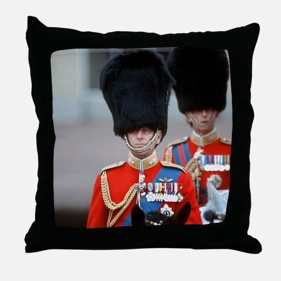 HRH Duke of Edinburgh Throw Pillow