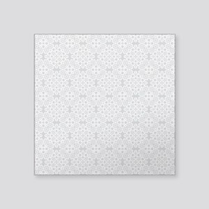 "Glacier Gray & White Lace 2 Square Sticker 3"" x 3"""