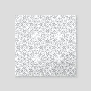 """Glacier Gray & White Lace 2 Square Sticker 3"""" x 3"""""""