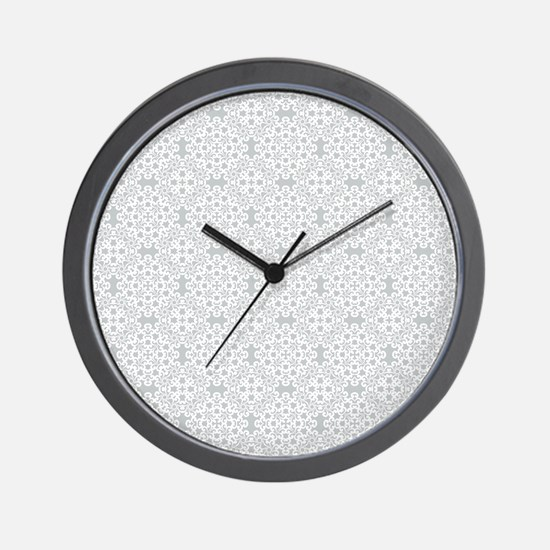 Glacier Gray & White Lace 2 Wall Clock