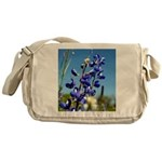 24x24 bluebonnet Messenger Bag