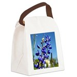 24x24 bluebonnet Canvas Lunch Bag